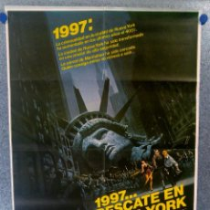 Cine: 1997: RESCATE EN NUEVA YORK. KURT RUSSELL, LEE VAN CLEEF. AÑO 1981. POSTER ORIGINAL. Lote 154676362