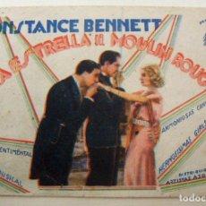Cine: PROGRAMA DE CINE LA ESTRELLA DEL MOULIN ROUGE 1936 PUBLICIDAD TEATRO PRINCIPAL. Lote 154689490