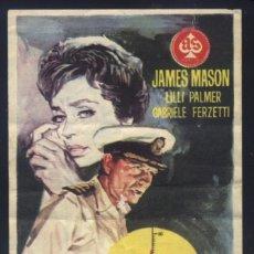 Cine: P-1713- DUELO EN EL MAR (BETA SOM) LILLI PALMER - JAMES MASON - ALBERTO LUPO. Lote 204691921