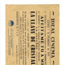 Cine: LA LLAVE DE CRISTAL, CON GEORGE RAFT.. Lote 154796782