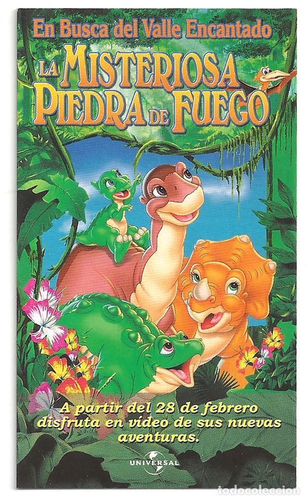 LA MISTERIOSA PIEDRA DE FUEGO PROGRAMA TROQUELADO CALENDARIO 2001 CHARLES GROSVENOR (Cine - Folletos de Mano - Infantil)
