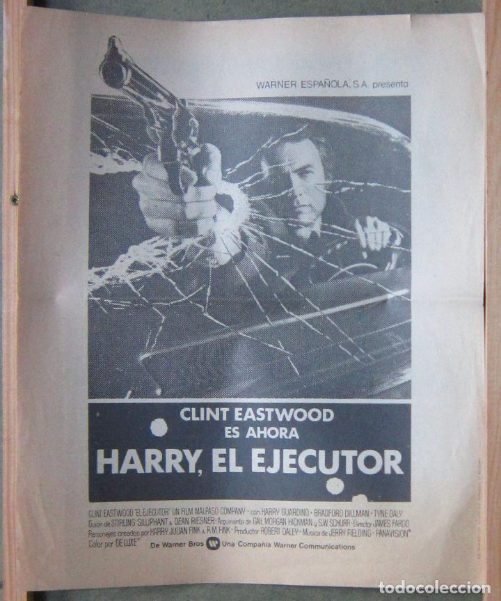 Cine: HARRY EL EJECUTOR PROGRAMA PERIODICO GRANDE WARNER CLINT EASTWOOD - Foto 3 - 154835998