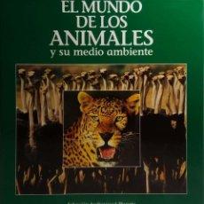 Cine: ESTUCHE CON 9 LASER DISC EL MUNDO DE LOS ANIMALES Y SU MEDIO AMBIENTE. LASERDISC.. Lote 154842230