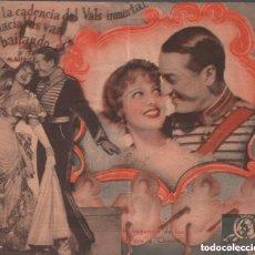 Cine: LA VIUDA ALEGRE - PROGRAMA DOBLE TROQUELADO DE MGM CON PUBLICIDAD RF-1337. Lote 154848490