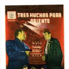 Cine: TRES HUCHAS PARA HORIENTE, CON JOSÉ NIETO.. Lote 154853222