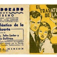 Cine: EL TRASATLÁNTICO DE LA MUERTE, CON FRANCIS SULLIVAN.. Lote 154855974