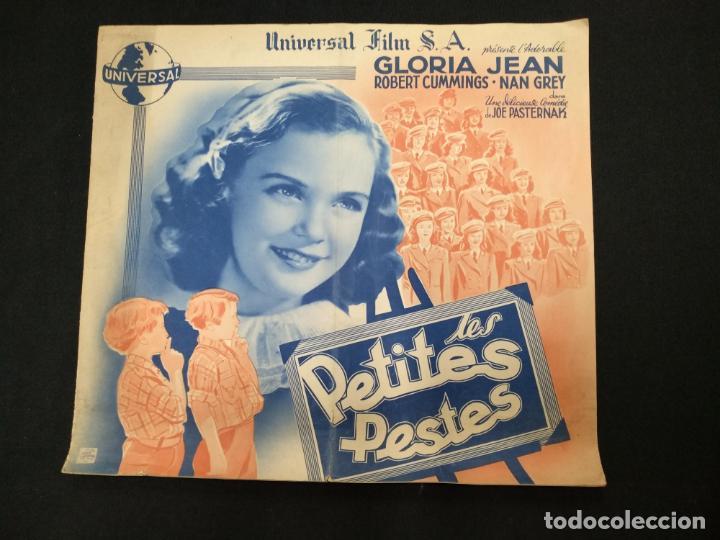 LES PETITES PESTES - GLORIA JEAN - ROBERT CUMMINGS - UNIVERSAL - (Cine - Folletos de Mano - Comedia)