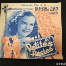Cine: LES PETITES PESTES - GLORIA JEAN - ROBERT CUMMINGS - UNIVERSAL - . Lote 154922418