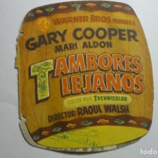 Cine: PROGRAMA TROQUELADO -TAMBORES LEJANOS -GARY COOPER. Lote 155103798