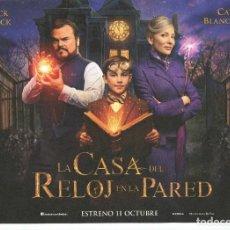 Cine: LA CASA DEL RELOJ EN LA PARED,CON JACK BLACK. 21 X 29,5. . Lote 155176382