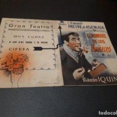 Cine: PROGRAMA DE MANO ORIG DOBLE - EL HOMBRE DE LOS MUÑECOS - CINE GRAN TEATRO. Lote 155311866