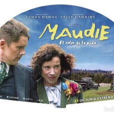 Cine: MAUDIE, CON ETHAN HAWKE. ABANICO DE CARTULINA 25 X 15 CMS... Lote 155316954