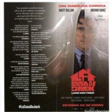 Cine: LA CASA DE JACK, CON MATT DILLON. 21 X 10 CMS... Lote 155317438