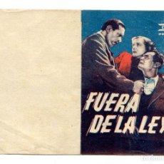 Cine: FUERA DE LA LEY, CON LUIS ARATA.. Lote 155389506