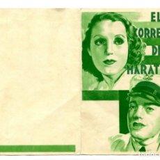 Folhetos de mão de filmes antigos de cinema: EL CORREDOR DE MARATHON, CON BRIGITTE HELM.. Lote 155391086