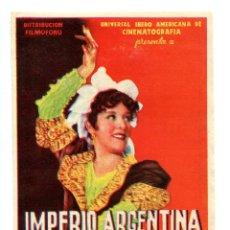 Cine: GOYESCAS, CON IMPERIO ARGENTINA.. Lote 155392182