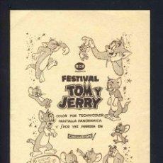 Cine: PROGRAMA DE CINE LOCAL DE MATARÓ: FESTIVAL TOM Y JERRY. CON PUBLICIDAD. Lote 155416850
