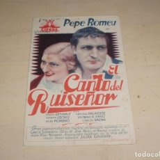 Cinema - Tarjeta El Canto del Ruiseñor ,Pepe Romeu (cifesa) 1933 - 155437246