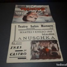 Cine: PROGRAMA DE MANO ORIG DOBLE - ANUSCHKA - CINE TEATRO SALON ROMERO. Lote 155438214
