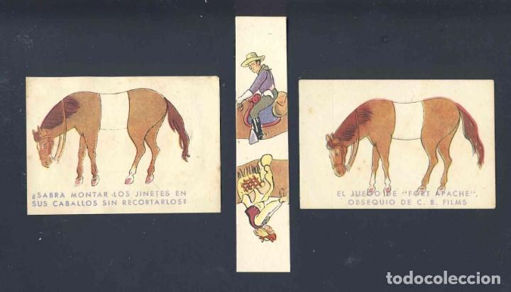 PROGRAMA DE CINE TROQUELADO: FORT APACHE. JUEGO DE INGENIO DE 3 PIEZAS. CON PUBLICIDAD (Cine - Folletos de Mano - Westerns)