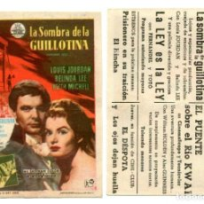 Cine: LA SOMBRA DE LA GUILLOTINA, CON LOUIS JOURDAN. C/I.. Lote 171710928