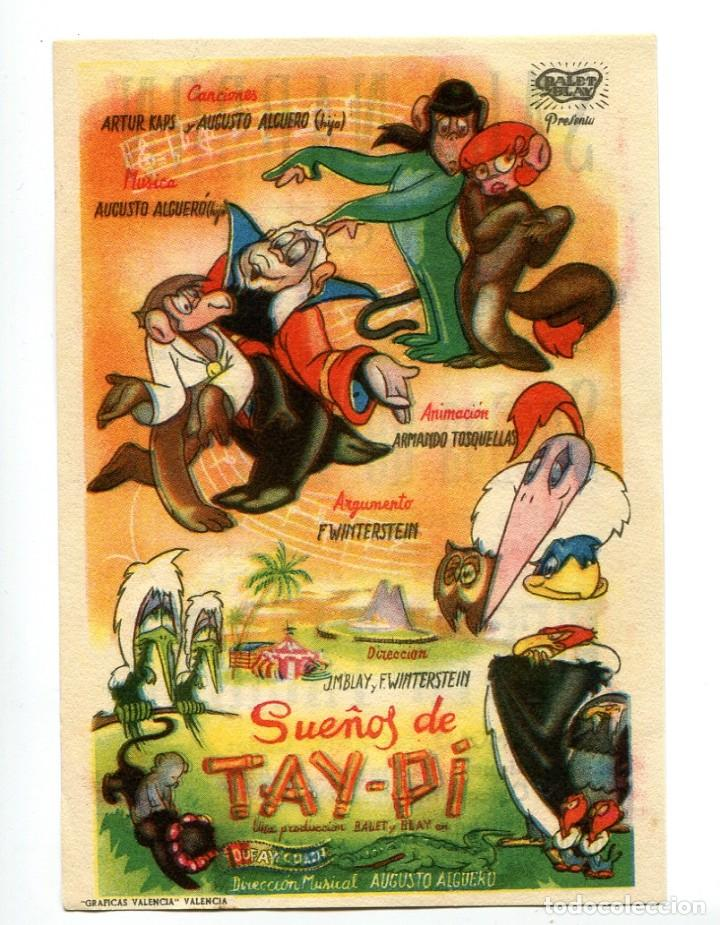 SUEÑOS DE TAY-PI. DIBUJOS ANIMADOS. C/I. (Cine - Folletos de Mano - Infantil)