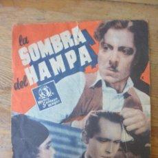 Cine: PROGRAMA FOLLETO CINE DOBLE LA SOMBRA DEL HAMPA PUBLICIDAD CINE NORBA CACERES AÑOS 30. Lote 155588110