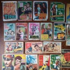 Cine: LOTE 54 FOLLETOS DE MANO - AÑOS 50 - CINES DE LEÓN Y ASTURIAS -. Lote 155660578