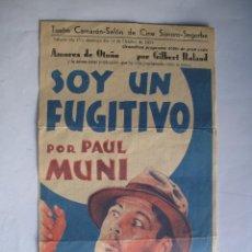 Cine: 134 ------ PROGRAMA DE MANO ORIGINAL EL DE LA FOTO. Lote 155699462
