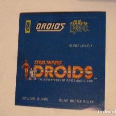 Cine: DROIDS STAR WARS LA GUERRA DE LAS GALAXIAS INTERESANTE ADHESIVO ORIGINAL ESPAÑOL 1987. Lote 155705714