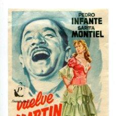 Cine: VUELVE MARTÍN CORONA, CON SARA MONTIEL.. Lote 155707142