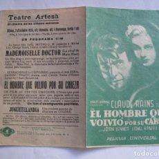 Cine: 171 ------ PROGRAMA DE MANO ORIGINAL EL DE LA FOTO. Lote 155707498