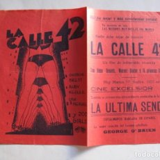 Cine: 175 ------ PROGRAMA DE MANO ORIGINAL EL DE LA FOTO. Lote 155707962
