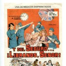 Cine: Y DEL SEGURO...LÍBRANOS, SEÑOR, CON JUANJO MENÉNDEZ.. Lote 155709122