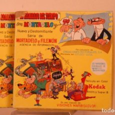 Cine: 2 PELICULAS MORTADELO Y FILEMON SUPER8. Lote 155782930