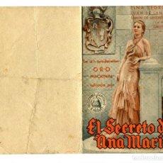 Cine: EL SECRETO DE ANA MARÍA, CON LINA YEGROS.. Lote 155837030
