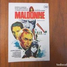 Cine: PROGRAMA DE CINE FOLLETO DE MANO-MALDONE-AÑOS 50 SIN PUBLI VER FOTOS. Lote 155838154
