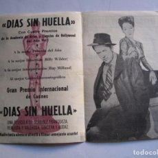 Cine: 395 ------ PROGRAMA DE MANO ORIGINAL EL DE LA FOTO. Lote 155895238