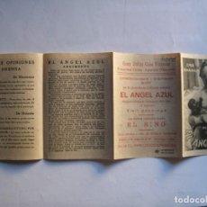 Cine: 398 ------ PROGRAMA DE MANO ORIGINAL EL DE LA FOTO. Lote 155896002