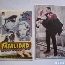 Cine: 400 ------ PROGRAMA DE MANO ORIGINAL EL DE LA FOTO. Lote 155896314