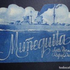 Cine: MUÑEQUITA 1941 DOBLE CON PUBLICIDAD CINE DORADO PIE ECHEVARRIA PUBLICIDAD DEL CINE DORADO VER FOTOS. Lote 155923670