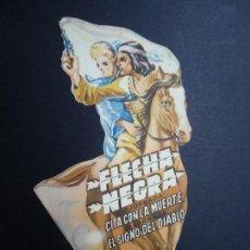 Cine: FLECHA NEGRA TROQUELADO AÑOS 40 . Lote 155969946