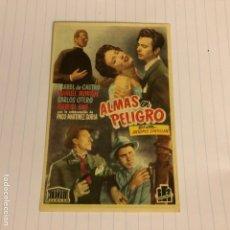 Cine: ALMAS EN PELIGRO. FOLLETO DE MANO ESTRENO EN TEATRO TRUEBA DE BILBAO EN 1951/52.. Lote 155998421