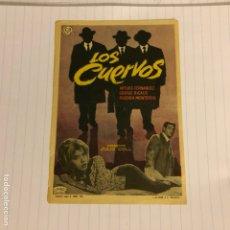 Cine: LOS CUERVOS. FOLLETO DE MANO ESTRENO EN CINE MODERNO DE CAMBRILS EN 1962.. Lote 155999868