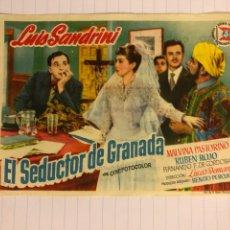 Cine: EL SEDUCTOR DE GRANADA. FOLLETO DE MANO ESTRENO EN CINE IZARO DE BILBAO EN 1953.. Lote 156000046