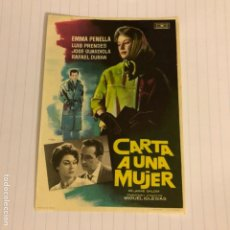 Cine: CARTA A UNA MUJER. FOLLETO DE MANO ESTRENO EN CINE SAN FERNANDO DE SEVILLA EN 1963.. Lote 156000470