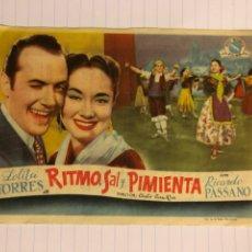 Cine: RITMOS, SAL Y PIMIENTA. FOLLETO DE MANO ESTRENO EN CINEMA PAX DE ASTILLERO (CANTABRIA) EN 1951.. Lote 156000954