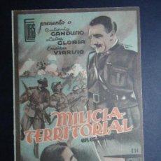 Cine: MILICIA TERRITORIAL 1941 ANTONIO GANDUSIO, CARLA GLORIA, EXCLUSIVA DE JULIO ELIAS. Lote 156166898