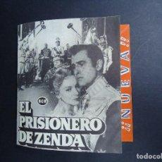 Cine: EL PRISIONERO DE ZENDA PROGRAMA DOBLE MGM STEWART GRANGER JAMES MASON DEBORAH KERR . Lote 156198954