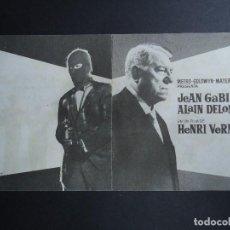 Cine: GRAN JUGADA EN LA COSTA AZUL 1963 JEAN GABIM, ALAIN DELON DOBLE METRO BIEN CONSERVADO. Lote 156220642